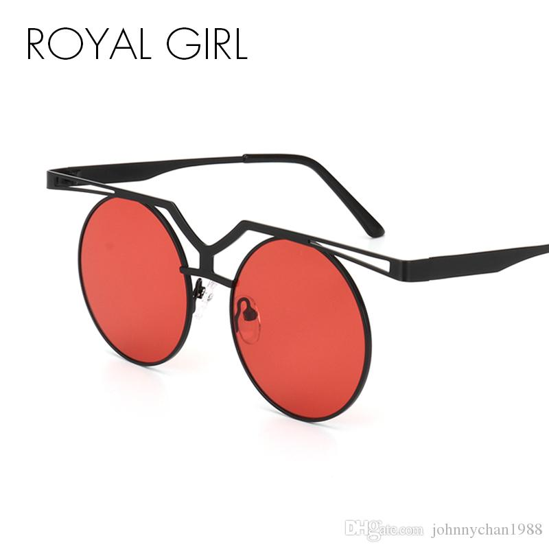 50dcd86e454 ROYAL GIRL Fashion Flat Top Sunglasses Women Classic Brand Design Round Sun  Glasses Double Nose Metal Frame Eyewear SS524 Native Sunglasses Wholesale  ...
