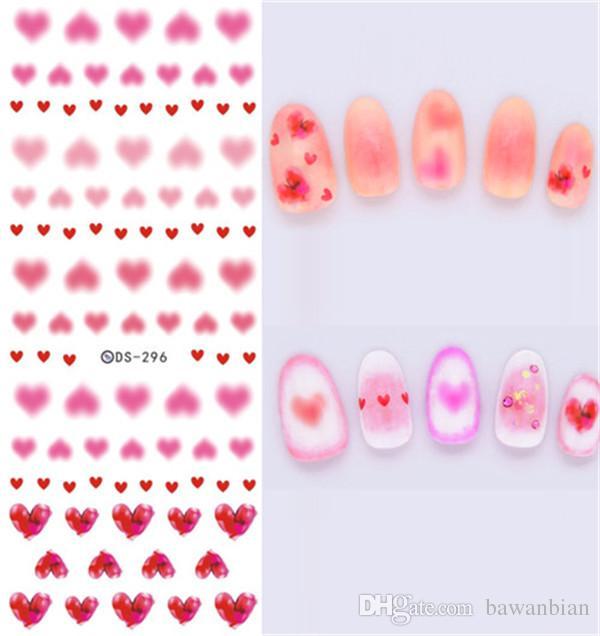 Pas cher bricolage transfert de l'eau ongles art autocollant coloré violet fantaisie fleurs ongles autocollants enveloppes feuille autocollant manucure avec livraison gratuite