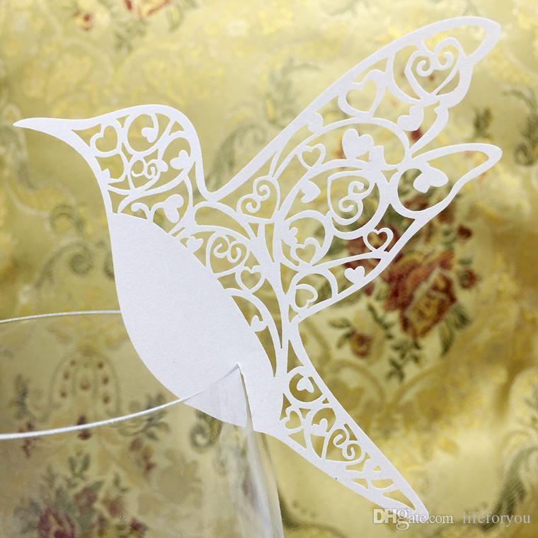 حفل زفاف تفضل الجدول المركزية الزفاف زينة الزفاف المركزية الطيور عيد ميلاد ضيف اسم مكان بطاقة