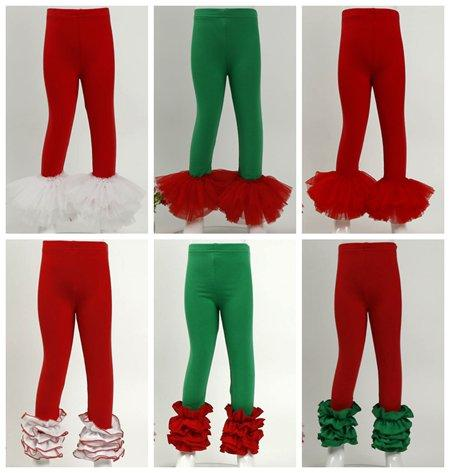 2018 baby toddler christmas clothing girls ruffle leggings tights polka dot floral pants kids tulle cotton pant infant trousers boutique 36c girls ruffle