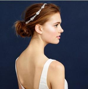 Wedding Hair Jewelry Bling Rhinestone Stretch Wedding Party Head Piece, Wedding Hair Band Bridal Hair Accessories