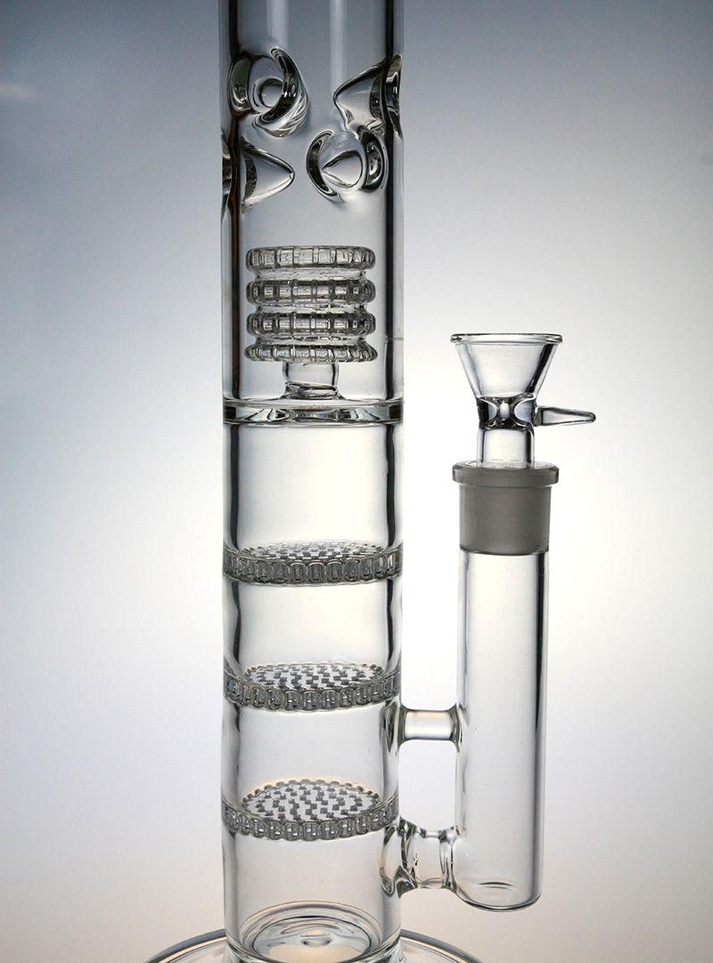 Big Thick Glas Wasserpfeife Glas Bong mit TRIPLE Wabe Perc Reifen Percolator 6 Eis Prise