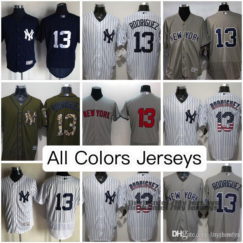 the best attitude a6c8d 43336 Alex Rodriguez New York Yankees Jersey Weiß Grau Marineblau Schwarz  Olivgrün MN Throwback Cooperstown Majestätisch Cool / Flex Base Baseball  Jerseys