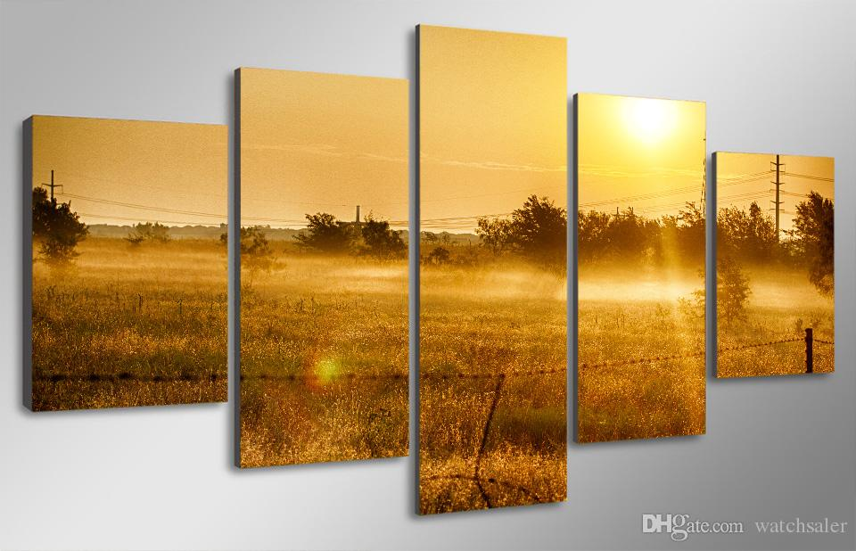 HD Printed Country sunrise Painting Canvas Print room decor print poster picture canvas thomas kinkade canvas