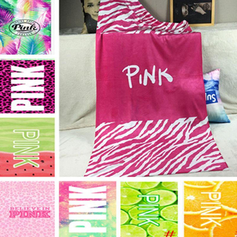 vs pink bath towel 70140cm beach towels victoria sexy leopard plage pink shower hand face towel swimwear yoga towel for women men bath hand towels paper