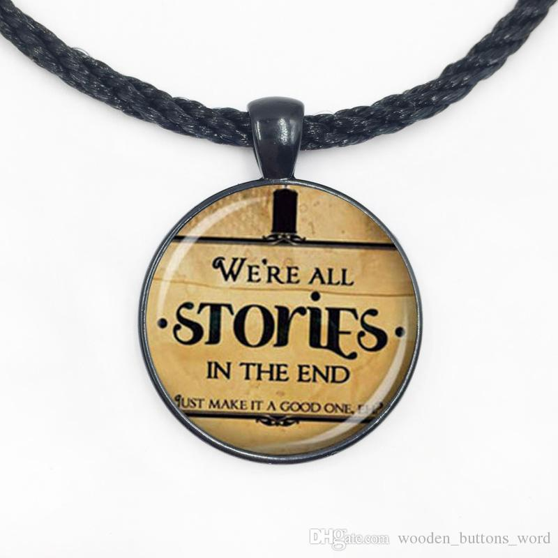 Wholesale We Re All Stories In The End Doctor Who Necklace Pendant