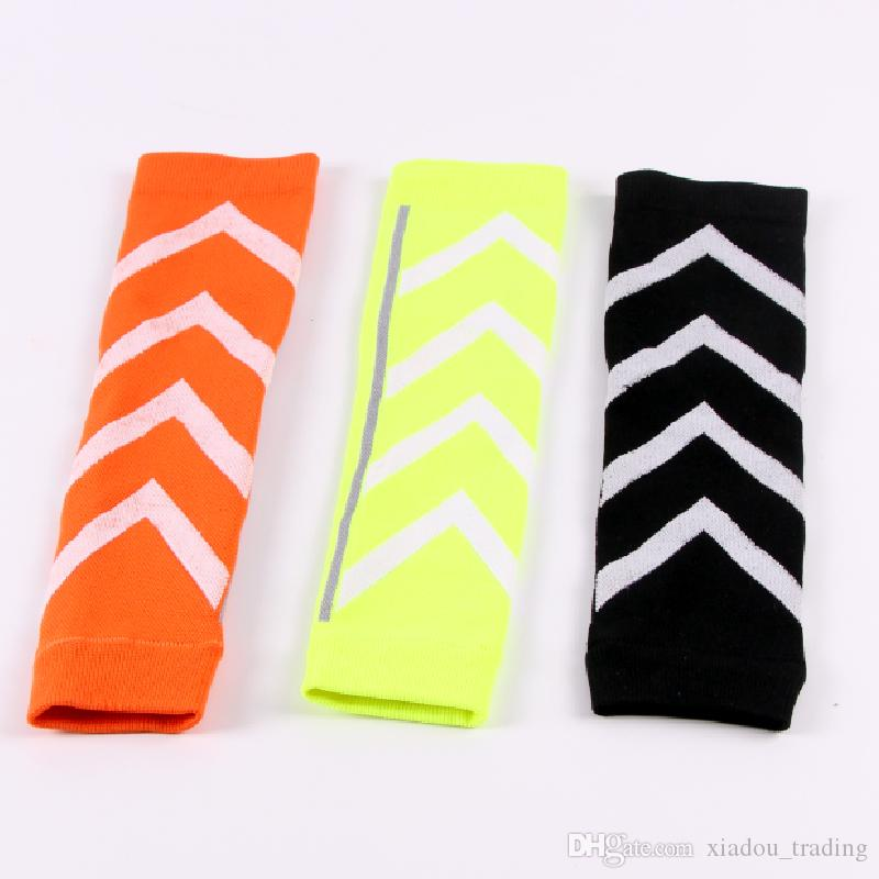 Night Run Fluorescent Basketball Football Leg Shin Guards Soccer Protective Calf Sleeves Cycling Fitness calcetines Compresion Running