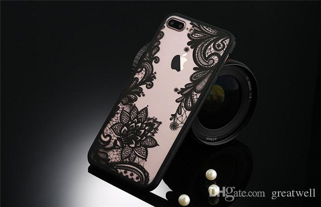 Lace Flower Sexy Retro Floral Henna Flower PU+TPU Phone Case For iPhone 11Pro Max XS XR 8 7 6S Plus