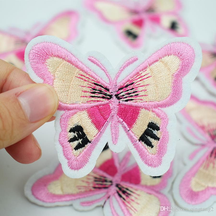 yellow bottom butterfly embroidery patches for clothing iron patch for clothes applique sewing accessories on clothes iron on patches