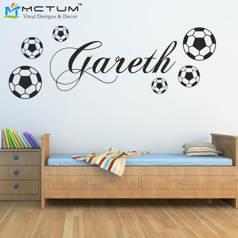 Personalized Football Wall Sticker Sports Boys Name Bedroom Footballer Art  Vinyl Wall Sticker For Kids Rooms Decoration Stickers For Room Walls  Stickers For ... Part 12