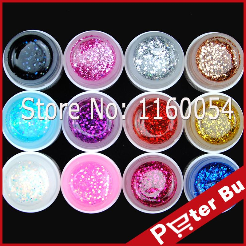 Wholesale Coscelia Uv Gel Big Glitter Nail Polish Set Tips Builder ...