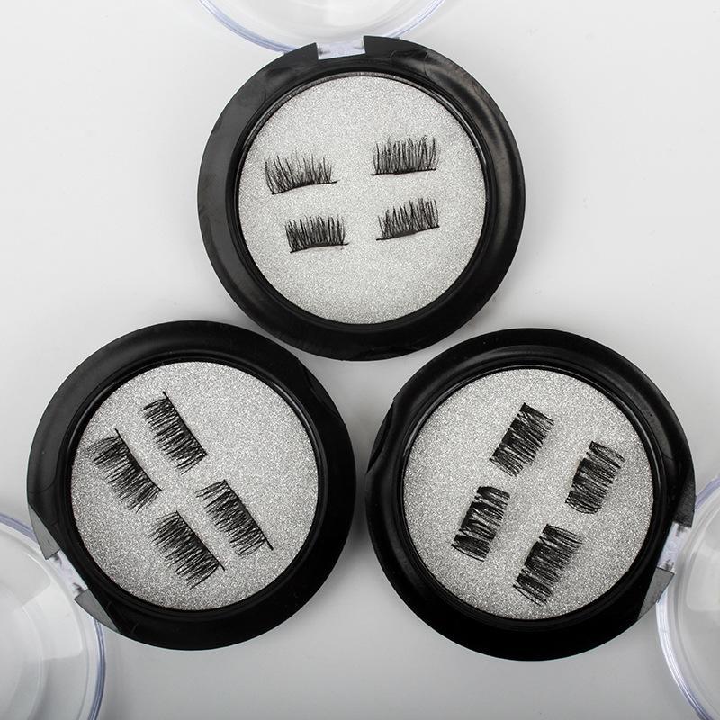 Haute Qualité Professionnel 3D Cils Magnétiques Beauté Naturelle Sans Colle Réutilisable Faux Faux Cils Extension À La Main