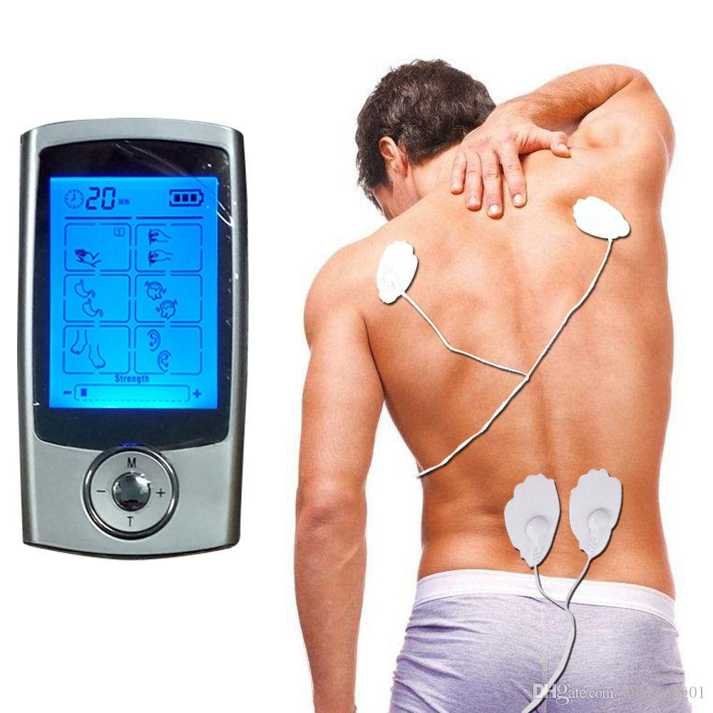 16 Modes TENS Unit Digital Electronic Pulse Massager Therapy Muscle Full Body Mini Acupuncture Magnetic Therapy Tens Massage Free by DHL