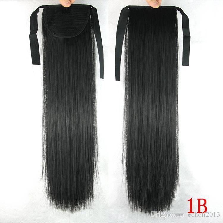 cola de caballo cabello humano Natural Human Hair Ponytail Extension #1 clip in human hair extensions brazilian ponytail human hair 140g