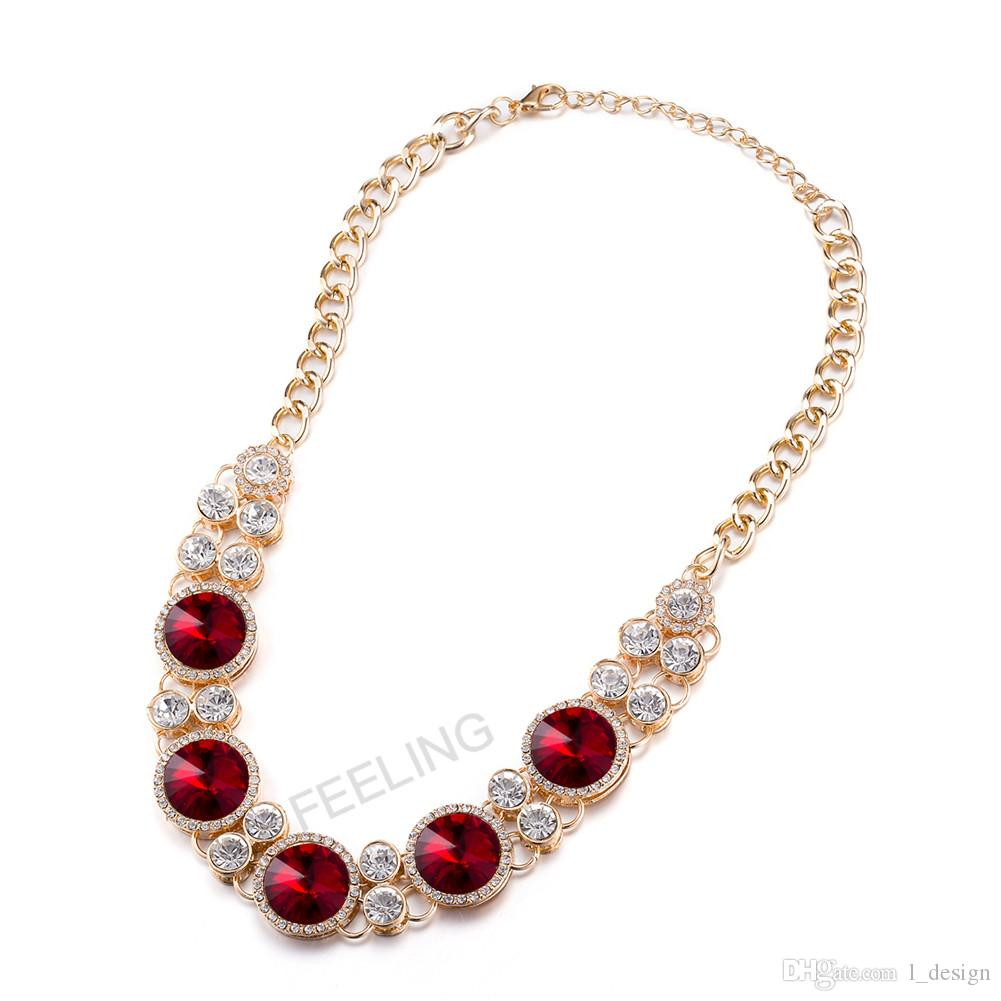 Fashion Jewelry Beautiful Fashion Necklace Pendants With Red Big ...