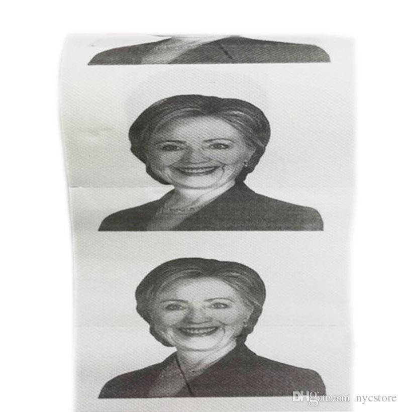 Hillary Clinton Donald Trump Barack Obama carta igienica novità divertente carta igienica regalo bavaglio