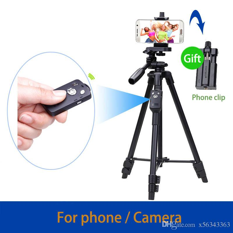 on sale 32793 f332a 43-125cm Lightweight Mobile Phone Selfie Tripod With Bluetooth Remote for  Camera iPhone 7 6s Plus Samsung Mi Android Smartphone MOQ:1Pcs