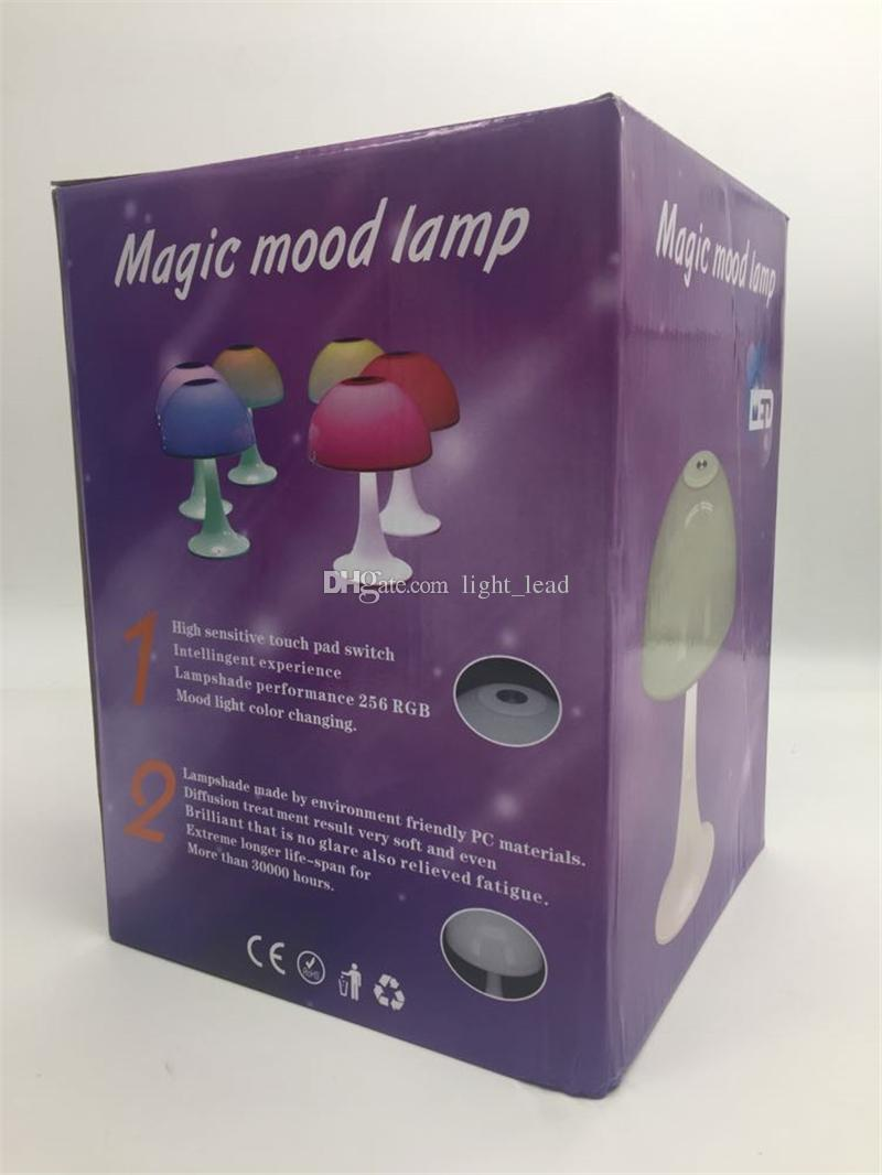 Automatic Discoloration Charging Reading LED Mushroom Desk Lamp Shield Eye Touch Dimmer Colorful Led Night Light Baby Children Bed