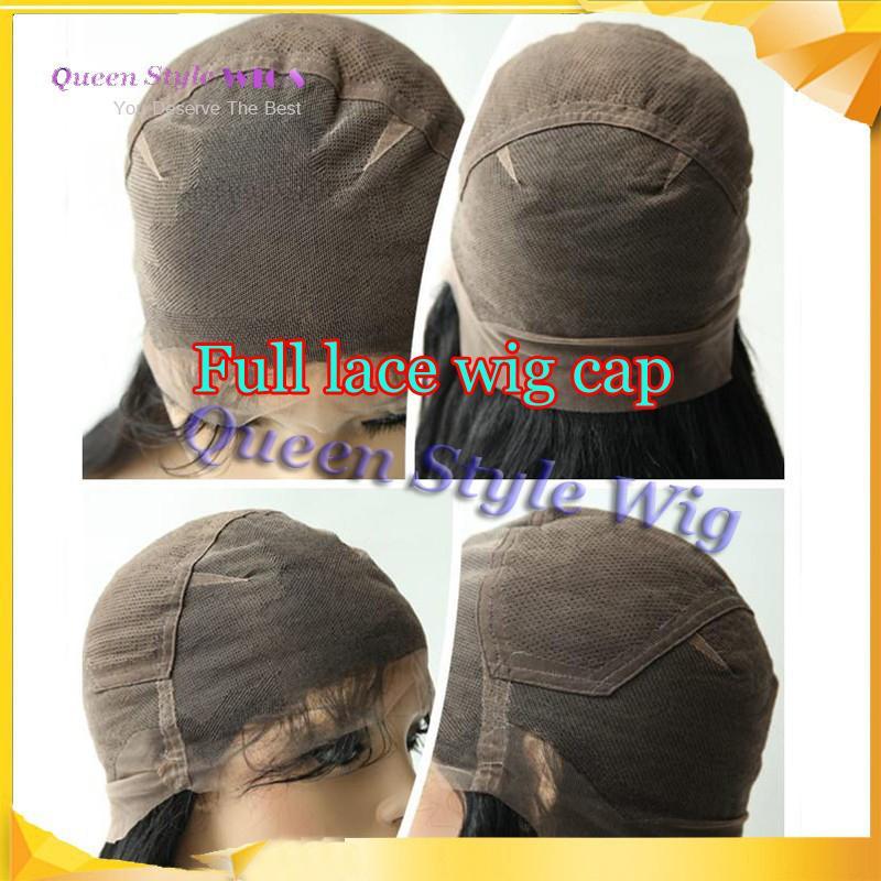 Pretty Natural Look Long soyeux cheveux raides pleine dentelle perruque synthétique résistant à la chaleur partie libre Full Lace perruques pour les femmes noires / blanches