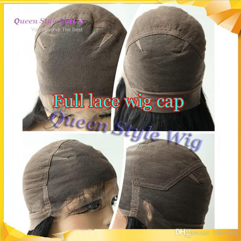 Pretty Natural Look Longo e Sedoso Cabelo Liso Peruca Cheia Do Laço Sintético Resistente Ao Calor Parte Livre Full Lace Wigs para Preto / Branco mulheres