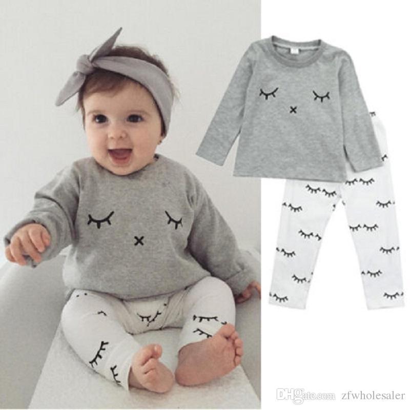 Yenidoğan Bebek Giyim Bebek Kız Erkek Giyim Seti Çocuklar Sonbahar Eşofman Bebekler tulum Uzun Kollu Gömlek Pantolon Legging Isıtıcı Pantolon