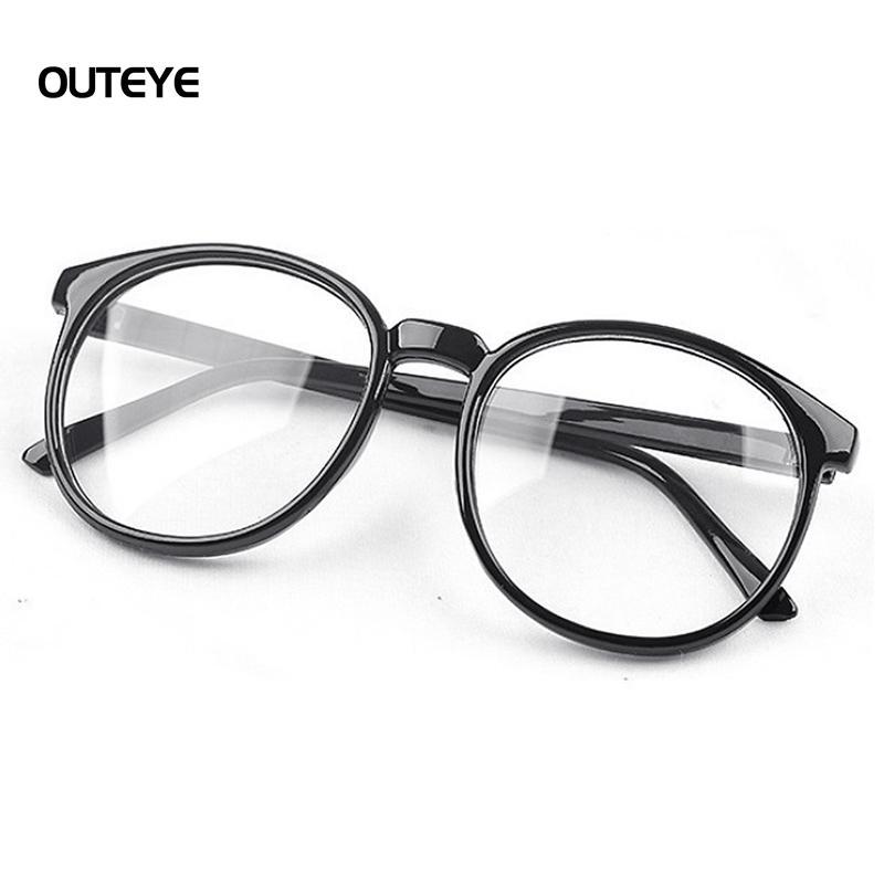 c8aac5d602 2019 Wholesale OUTEYE Women Vintage Glasses Frame Plain Mirror Harajuku Round  Optical Frame Girl Eyeglass Clear Lens Oculos Feminino De Grau 15 From ...