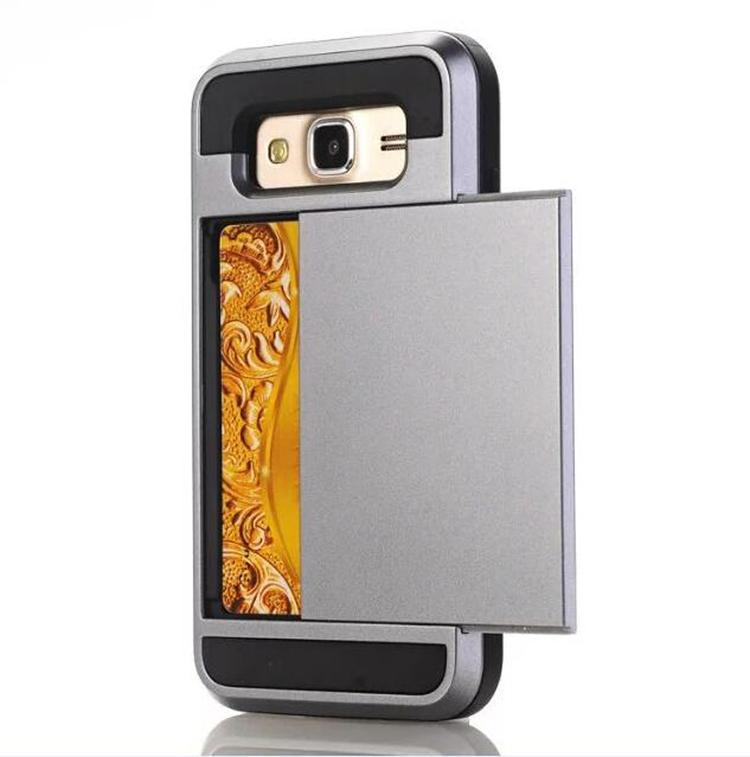 low priced f50ef 7a4b3 Silicone & plastic 2 in 1 Shockproof case for Samsung galaxy J7 2016 J710  with credit card slot mobile phone Cases