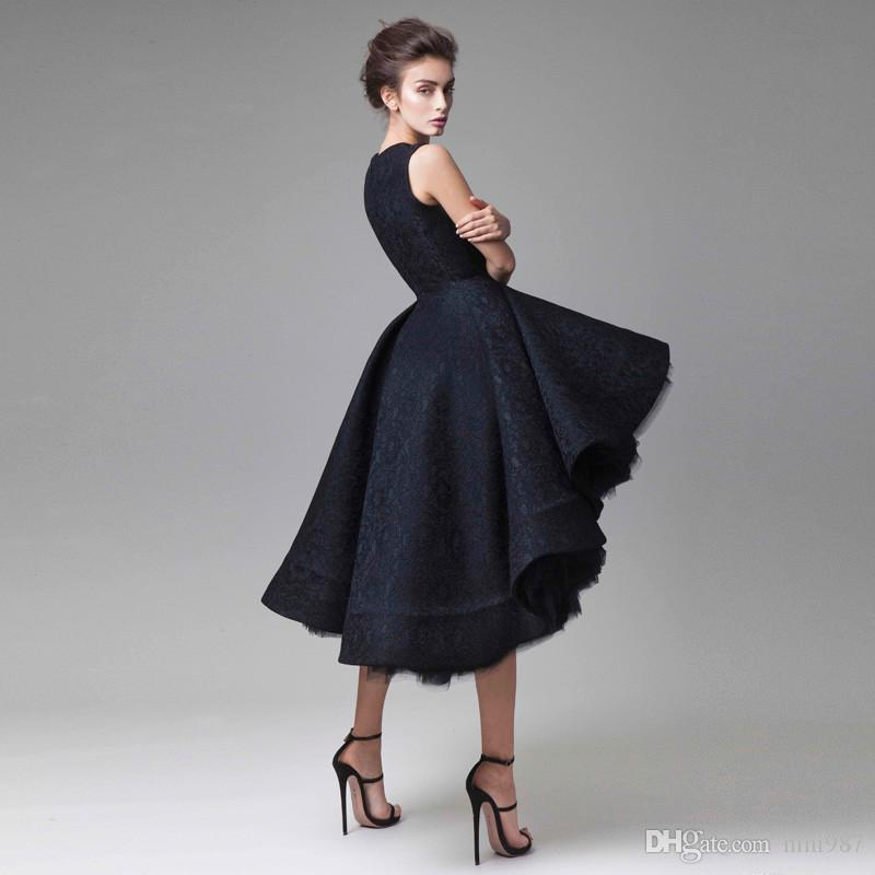 2017 New Chic Prom Dresses Hand Made Flower Unique High Low Short Formal Evening Party Dress short Cocktail Dress ball gown evening gowns