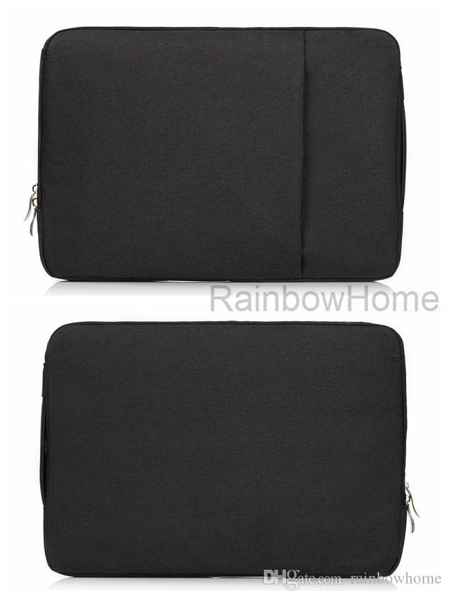Tissu Jean Denim Port de sac de protection Sac à main pour MacBook Air Pro Retina 11 13 15 pouces PC Un Universel Zipper Sacs