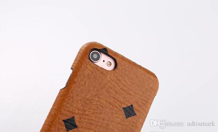 Luxe M Mode Étui En Cuir Pour Apple iPhone 6 6s 7 7p Marques Style Cadeaux Cas Couverture Arrière pour iPhone 8 Plus 5.5 pouce