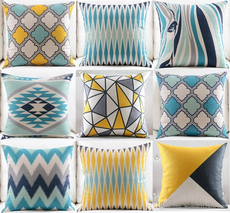 Morocco Tile Rug Pattern Cushion Cover Modern Geometric