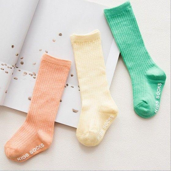 Korean Style Children Socks High Quality Pure Cotton Baby Kids Socks Knee High Long Socks Good Match Toddler Girls Clothes Accessories Q0893