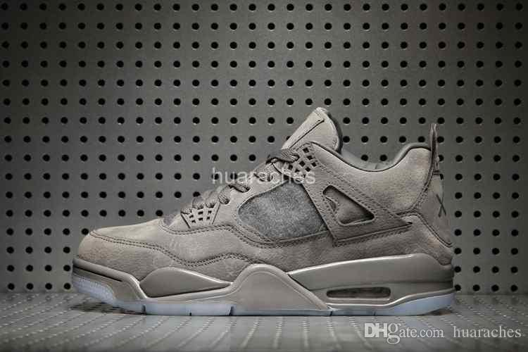 2018 Nuevo KAWS x 4 Hombres Zapatillas de baloncesto Barato Cool Grey Man 4s Zapatillas de deporte para hombre Entrenadores Basket ball zapatos deportivos al aire libre Tamaño 41-47