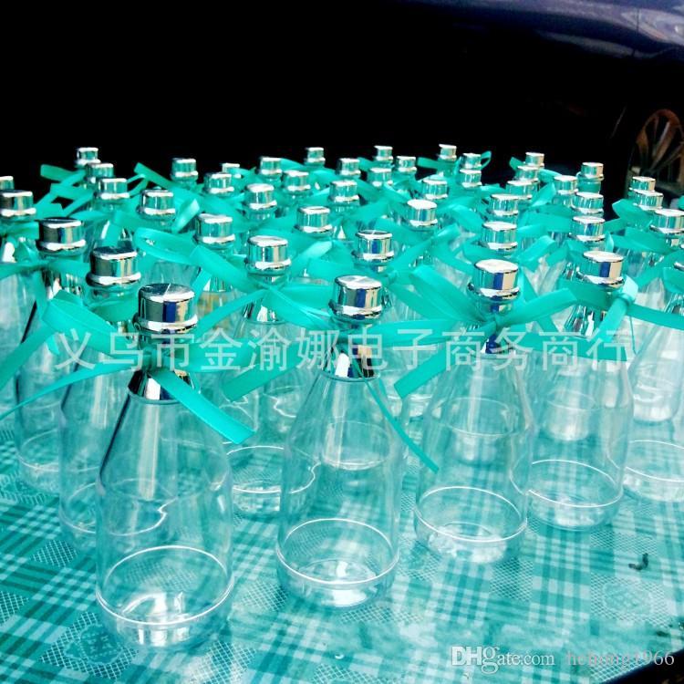Botellas de Champagne de plástico Botellas de Dulces Transparentes Tarros de Botella Vacía Para Favores de la Boda Regalos de Fiesta Recuerdos de Baby Shower Venta Caliente 1jy A R