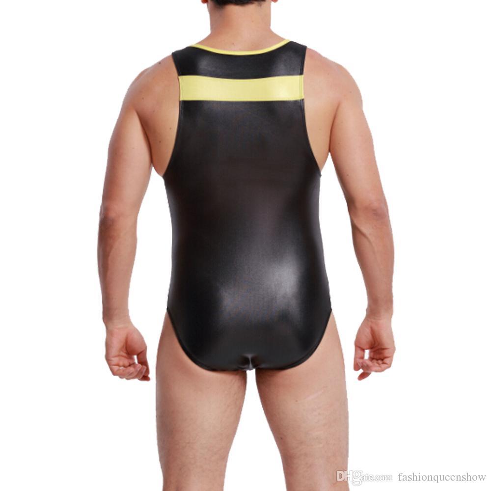 Men Stretchy Wrestling Singlet Gym Outfit Sexy Underwear Bodysuit Sports Swimwear Men Body Shaper Leotard Unitard