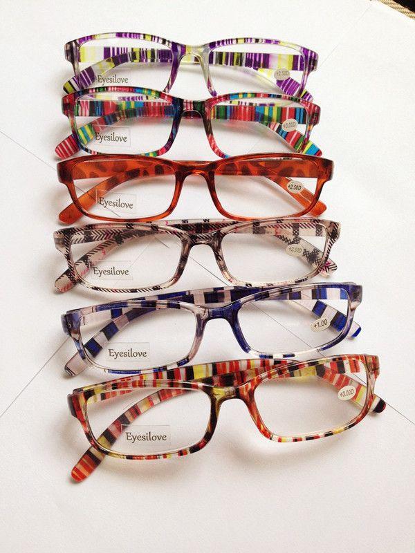 /  다채로운 플라스틱 독서 안경 +1.00에서 +4.00까지 다양한 색상의 렌즈가 혼합 주문을 허용