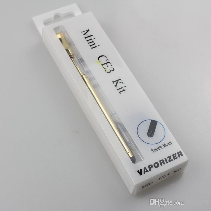 Golden glass cartridge Kit Vaporizer bud touch 280mAh battery O pen Cartridge Vapor WAX thick Oil tank e cigs vape