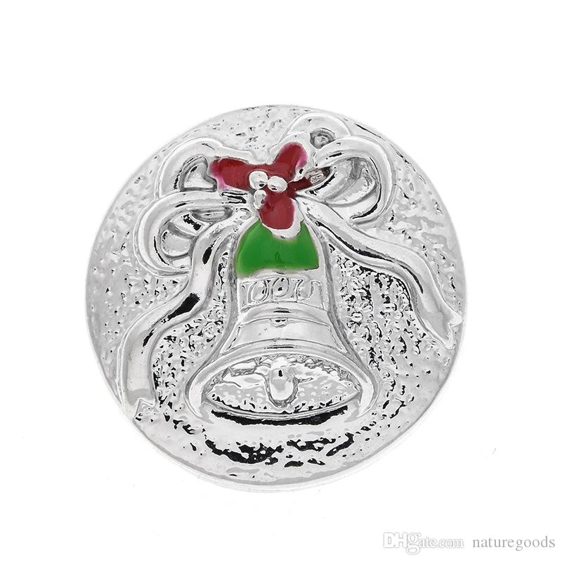 new fashion charm bell snap button, suitable for 18 mm snap button jewelry, is the best gift