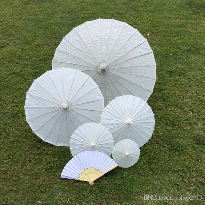 bridal wedding parasols White mini paper umbrellas Chinese mini craft umbrella 4 Diameter:20,30,40,60cm wedding favor decoration