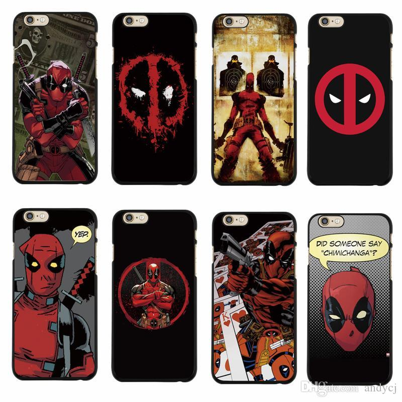 new product b8ea1 49cee cartoon Comic character Deadpool cool and fashion Case for iPhone 5s SE 6  6s Plus 7s Plus Samsung