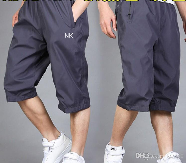 NOVA chegada 2018 marca ao ar livre dos homens calças capri cinza preto Ultra leve treinamento de basquete em execução basculador bezerro-Comprimento calças de tênis