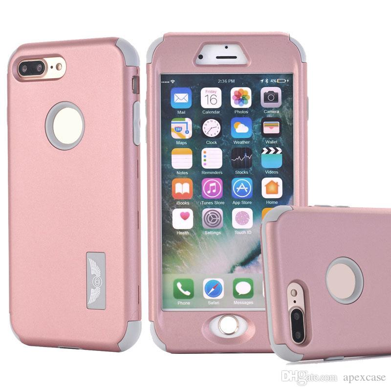 new styles 5a533 d2574 Hybrid 3 in 1 PC Silicone Combo Protective Robot Cases for iphone 6s plus  for iphone 7 7 plus Case free shipping