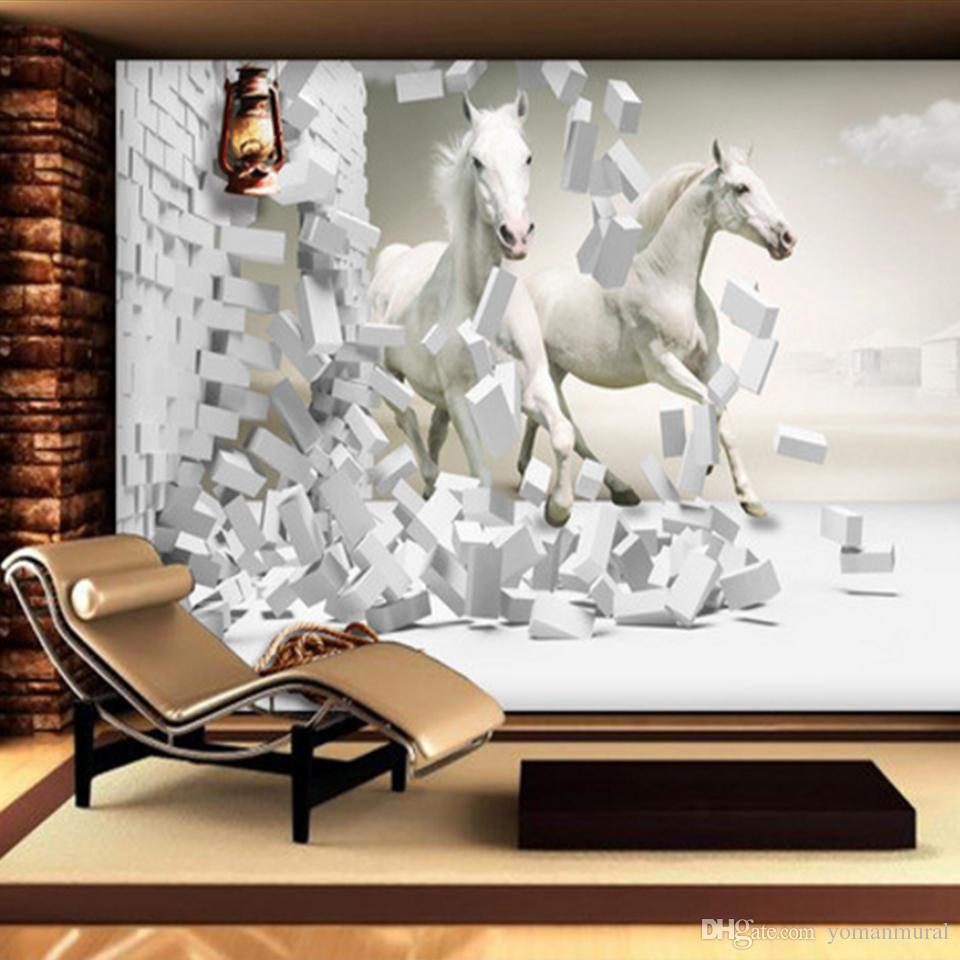 3D Wallpapers For Wedding Room Horse 3D Creative Space TV