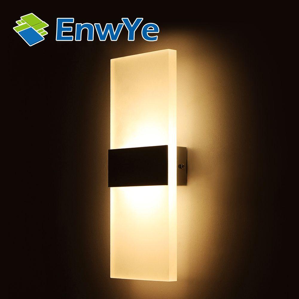 2018 Enwye Modern 110v 220v Light Led Wall Lamp Bedroom Bedside ...