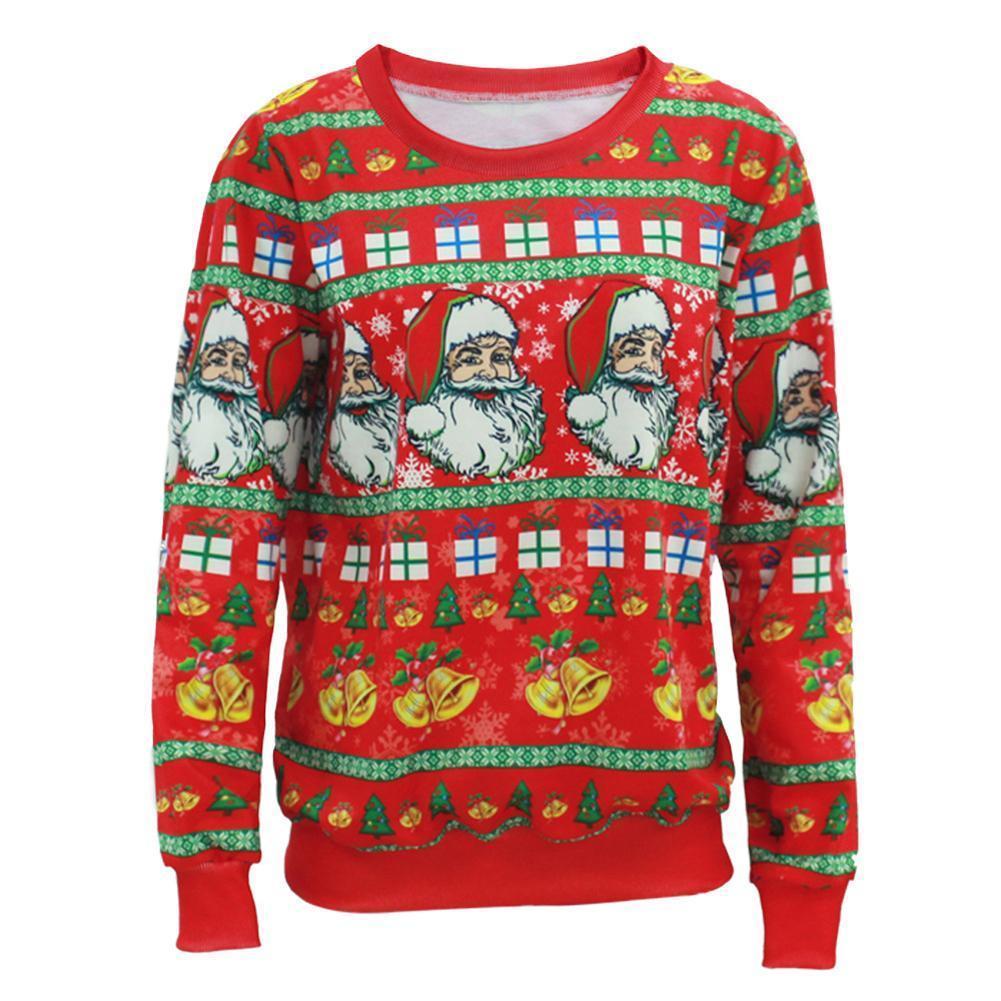 outlet store c9efa 6baf7 All ingrosso-Babbo Natale X-mas albero renna fantasia maglione Nuovo arrivo  brutto maglioni di Natale per uomo donna medio lungo pullover A2