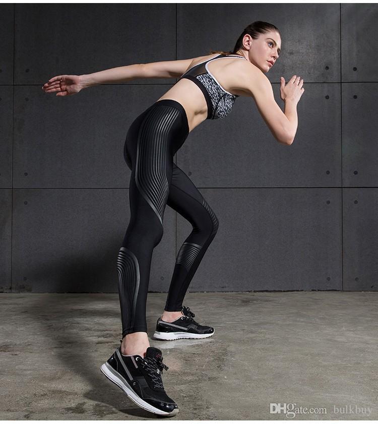 Mermaid Eğrisi SPOR Kadın Spor Tayt Güç Hız Yoga Pantolon Koşu Pantolon Renkli Streak Elastik Spor Legging Kadınlar