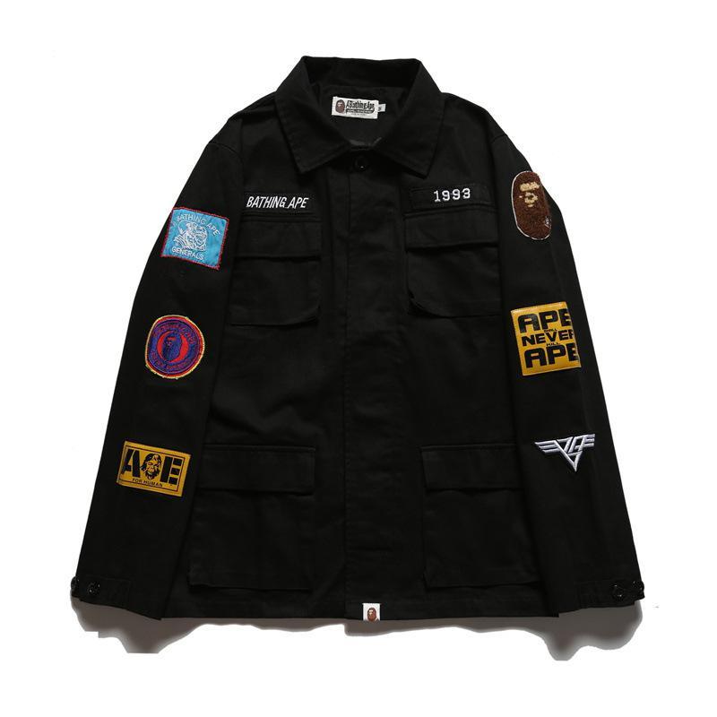 324afd3a0038 Men s Thin Casual Epaulet Jackets Kanye WEST Jacket MA1 Bomber ...