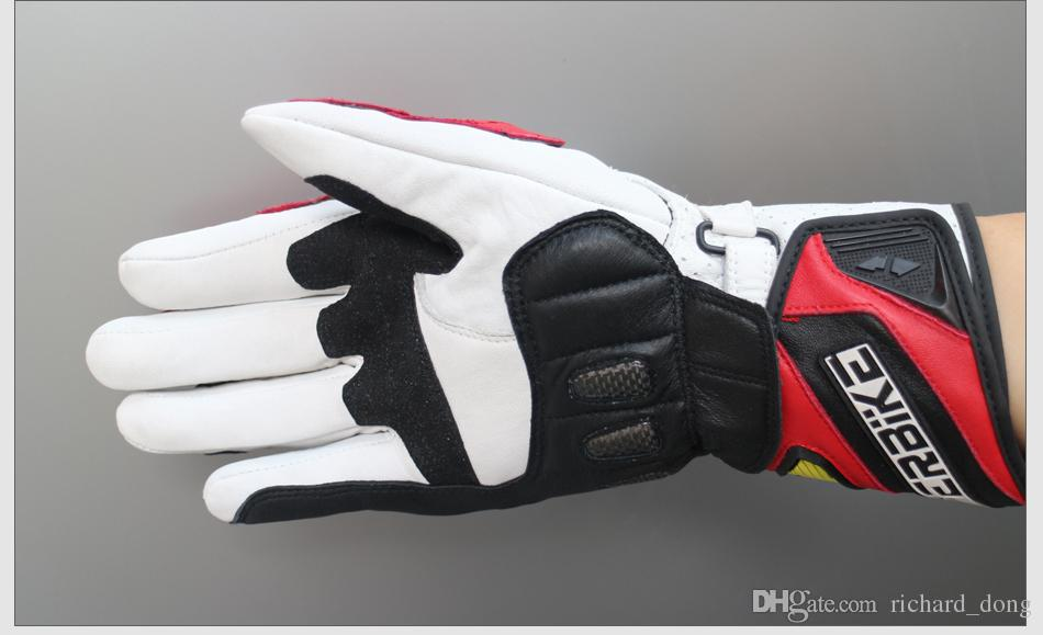 Free Shippin New Motorcycle Gloves GP PRO For Men Genuine Leather Motocross Protective Gear Cycling Whole Sale Drop Shipping