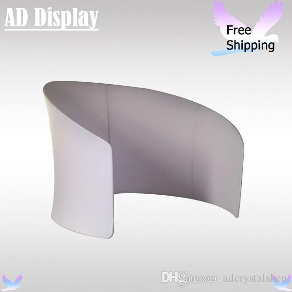 Exhibition Booth Blank : Trade show booth white and blank with brochure display blank