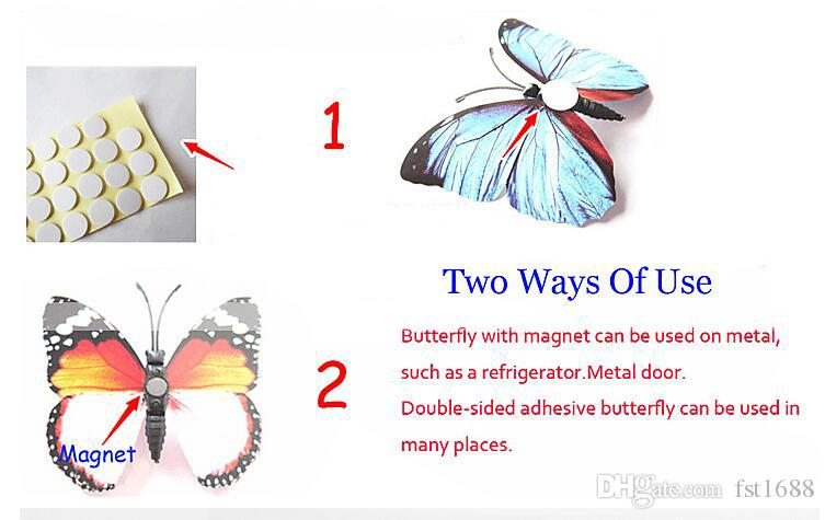 Plastic Flying Butterfly DIY Wall Refrigerator Stickers for Home Decor in Your Beautiful Home